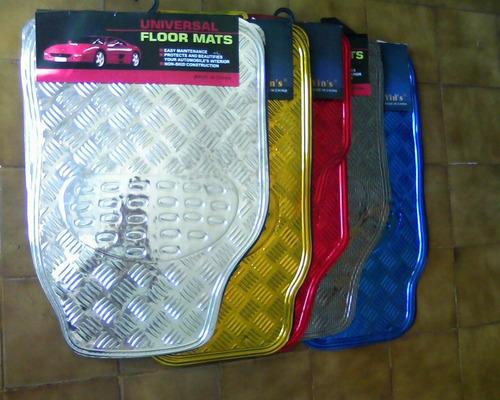 tapetes metalizado em várias cores univ.