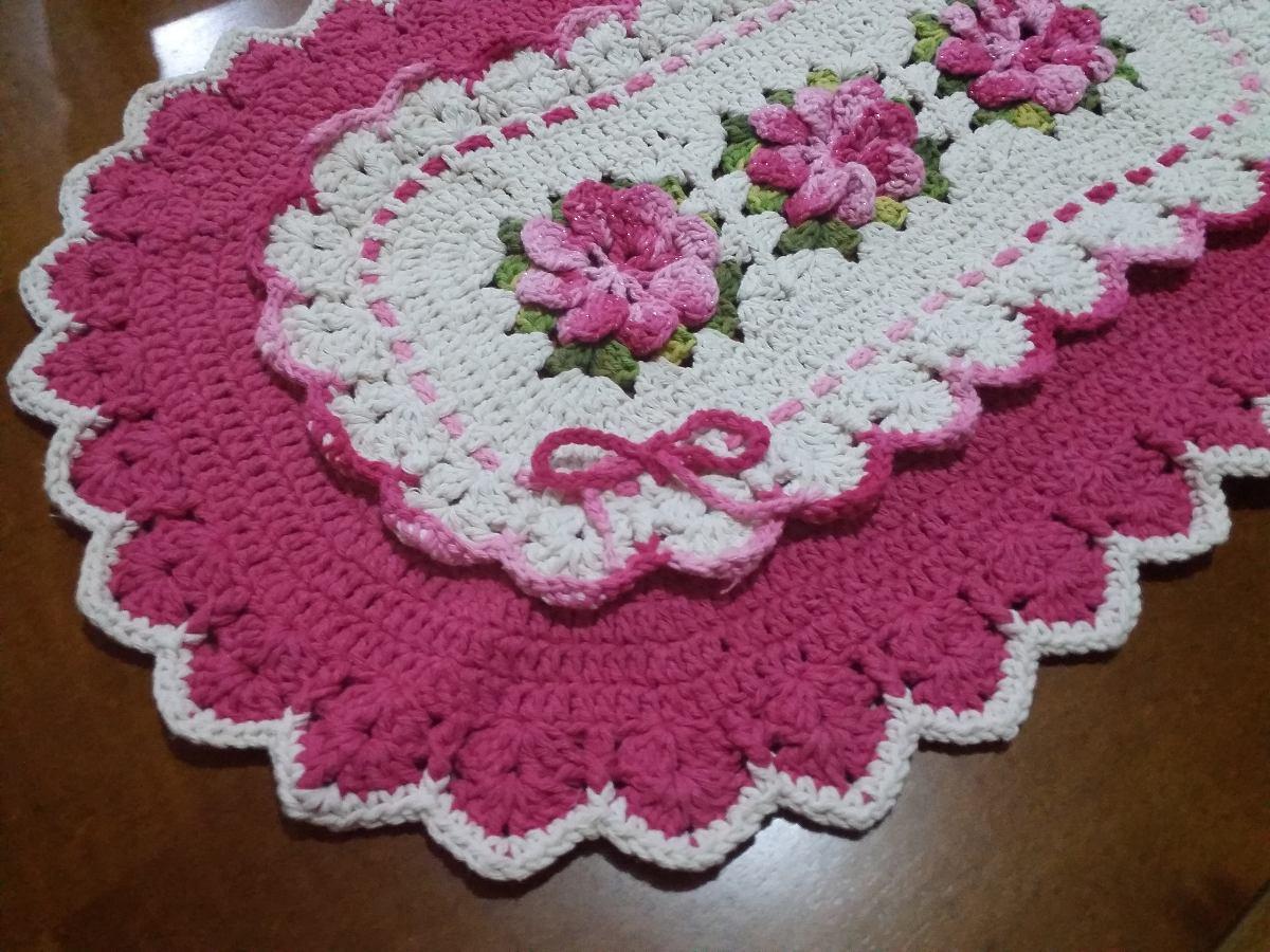 Tapete De Croche Para Cozinha Com Flores Oppenau Info -> Tapetes De Croche Para Sala