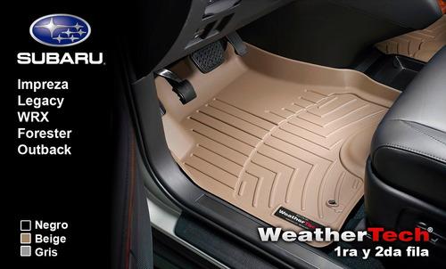 tapetes subaru uso rudo 1a y 2da fila weathertech floorliner