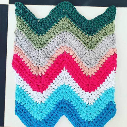tapetes tejidos a mano en trapillo, diseños y colores
