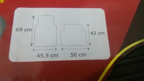 tapetes universales para auto, caucho o pvc negros 3 piezas