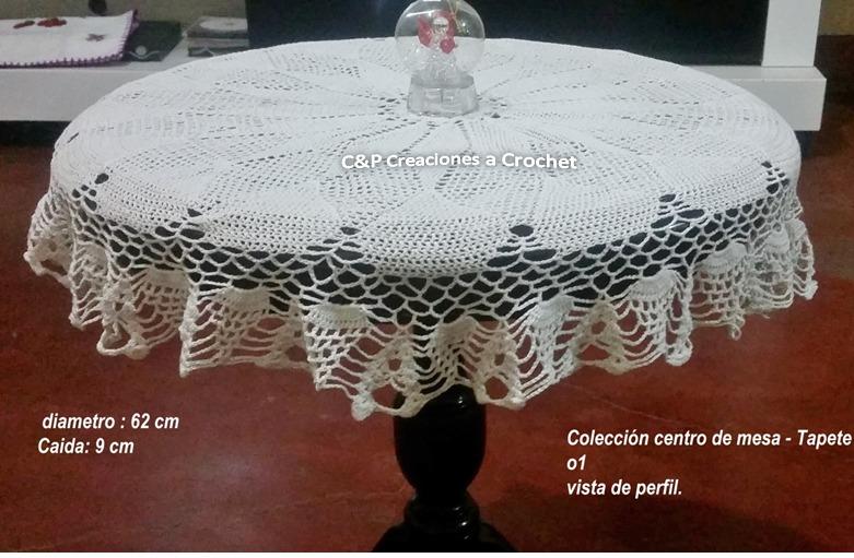 Tapetes Y Manteles Tejidos A Crochet - Modelos Y Colores. - S/ 30,00 ...
