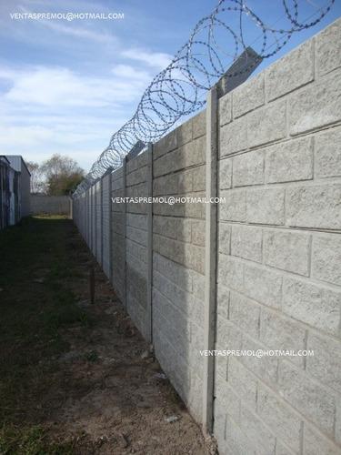 tapiales, muros, cercos  placas premoldeadas . bloques