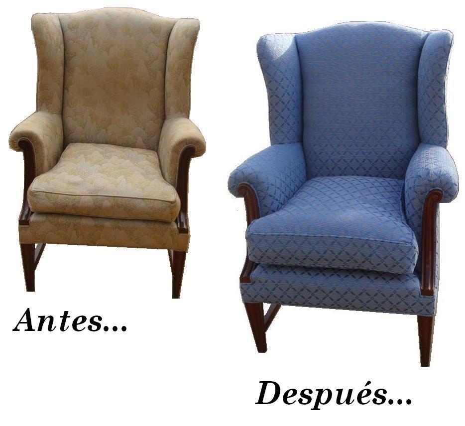 Tapicer a retapizados hogar sillas sillones sof s for Sillones de estilo