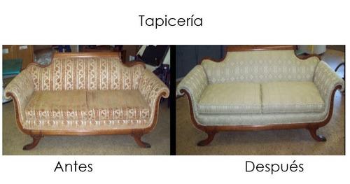 tapiceria  sulermis decoracione, telas, carpintería, muebles