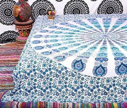 tapices,1 x india del pavo real de la mandala de la tapi..