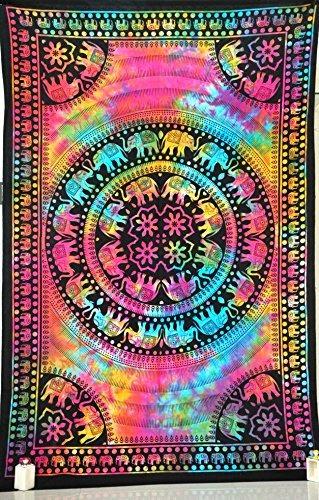 tapices,jaipurhandloom del tinte del lazo del elefante d..