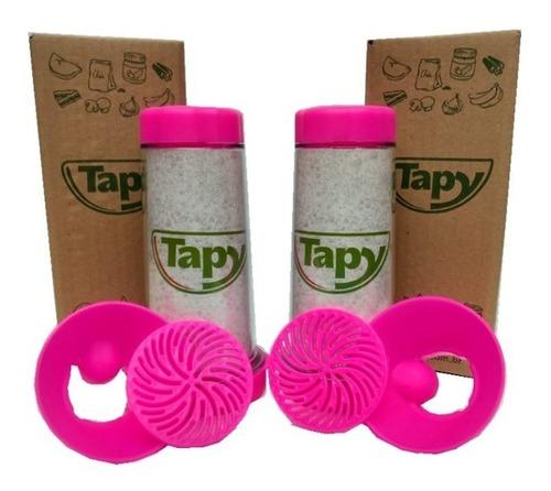 tapioqueira tapy pink - armazena e peneira - kit-2