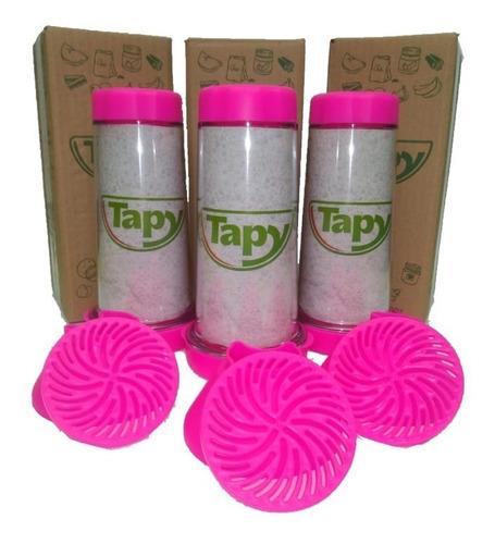 tapioqueira tapy pink - armazena e peneira - kit-3