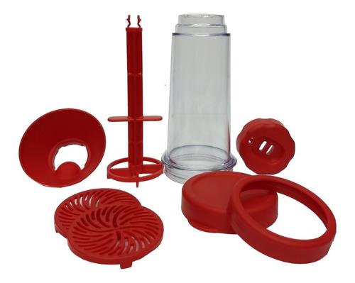 tapioqueira tapy preta - armazena e peneira - kit-2
