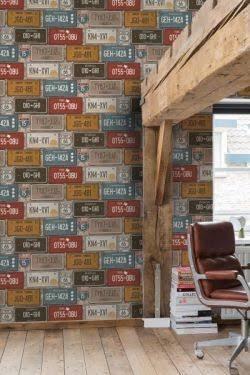 tapiz decorativo de pvc plate, hecho en holanda, lavable