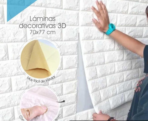 tapiz espuma 3d para pared decoracion antigolpe decorativo