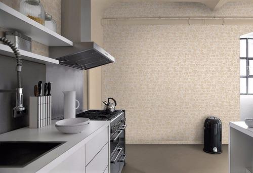 tapiz importado tipo ladrillo vintage con textura, lavable