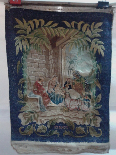 tapiz religioso escena la adoración de los magos