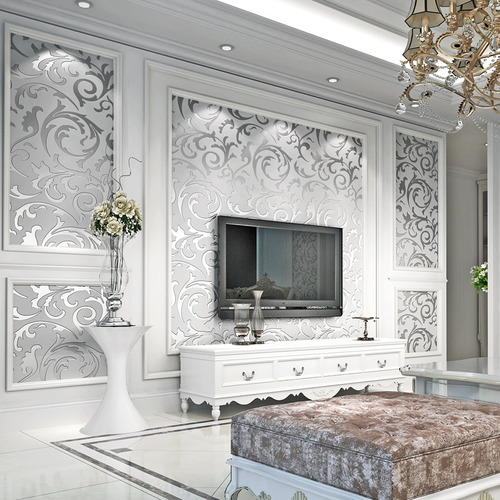 tapiz sala comedor recamara gris plata 10 mts rollo empaque