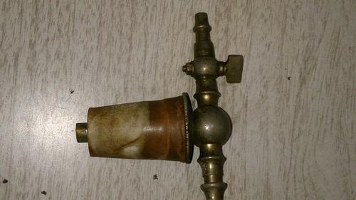 tapón de perfumero antiguo, bronce