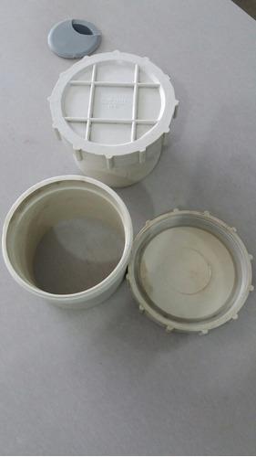 tapón de  registro para tubo pvc de 4 pulgada  110 mm