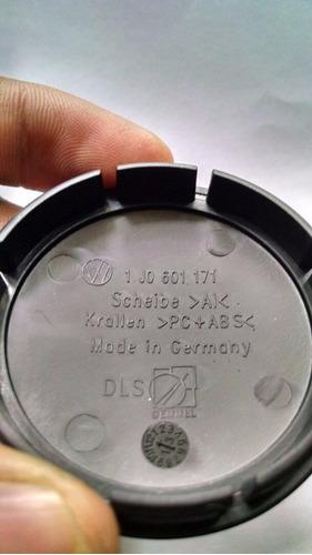 tapon de rin volkswagen juego 4 pz originales 50 milimetros