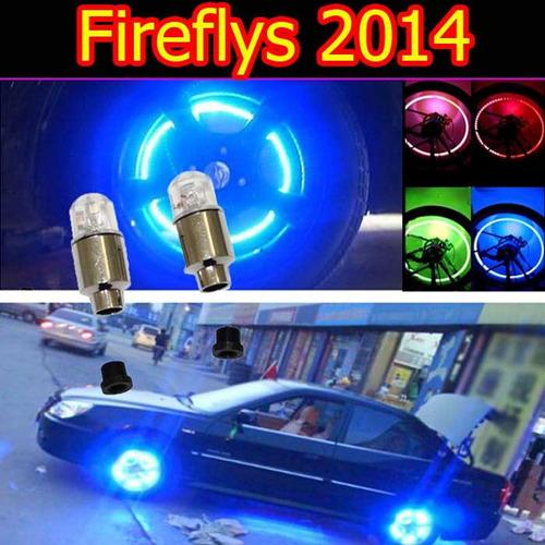 tapones led fireflys para válvulas de llantas tipo neón!