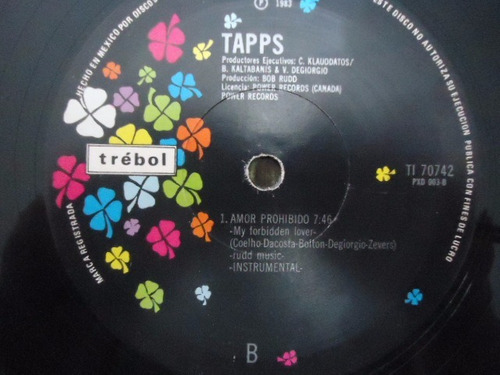 tapps / my forbidden lover vinyl lp acetato