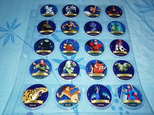 taps tazos heroes y villanos disney no pokemon dragon ball