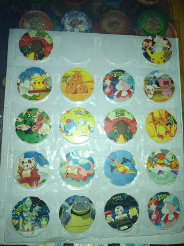 taps tazos pokémon tridimensionales tridi película chipy