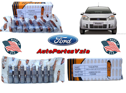 taquetes ford fiesta 1.6 ka power max move 8 piezas