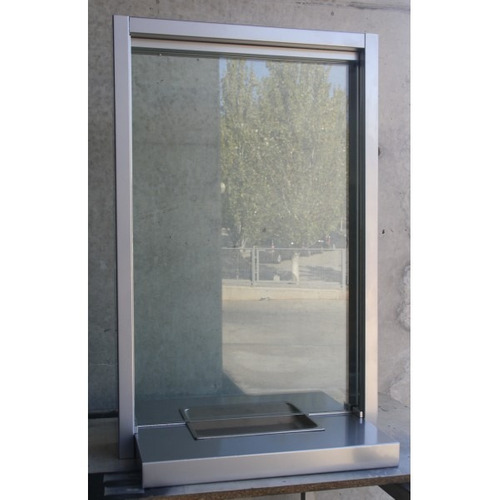 taquilla externa,vidrios blindados, blindaje, mtto.