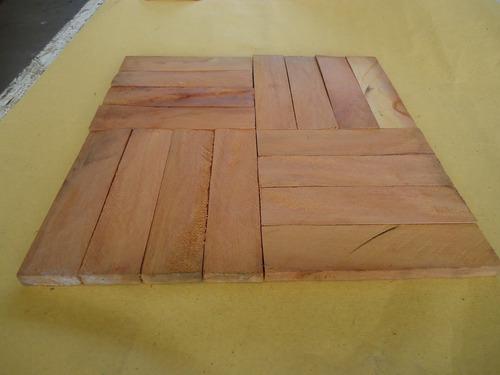taquinho de madeira 12x3x1cm peroba rosa