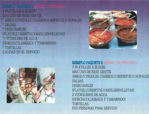 taquizas y banquetes maulet