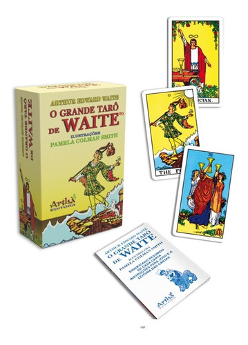 tarô de waite - ed. artha 78 cartas e manual cartas original