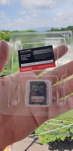 targeta de memoria sandisk extreme pro 4k  64gb de  170mb/s