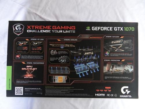 targeta de video geforce gtx 1070 8gb  xtreme gaming