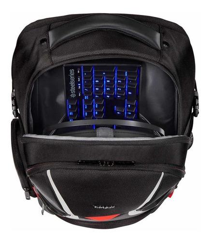 targus strike gaming backpack for 17.3-inch laptops, black/