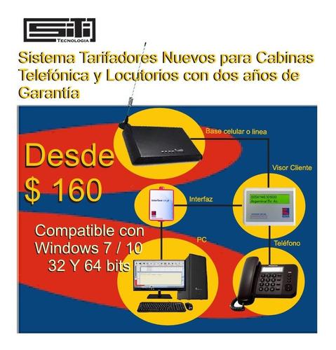 tarifador bonus de cabina telefónica  $160 nuevo