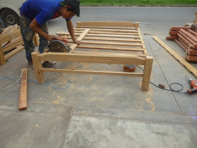 Tarima 2 plazas desarmable en madera cap rona nuevo s for Tarimas de madera para cama