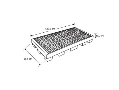 tarima contenedora de derrames (plataforma p-2 tambos)