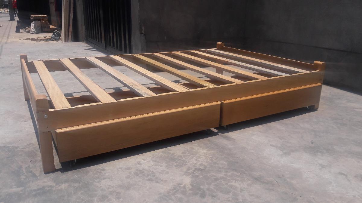 Tarimas Con Cajones Madera 1 Plaza S 335 00 En Mercado Libre # Muebles Con Tarimas Y Cajones