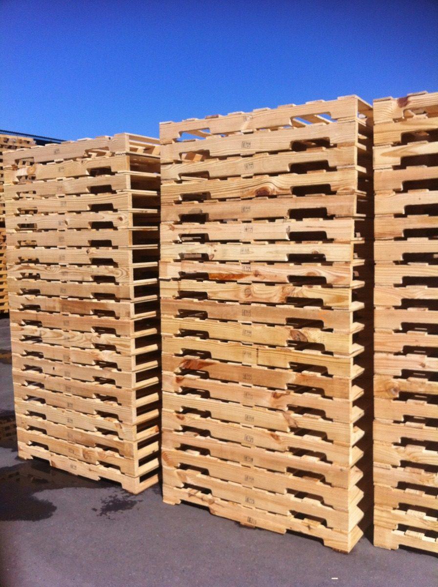 Tarimas de madera nuevas y recicladas con tratamiento for Tarimas de madera recicladas