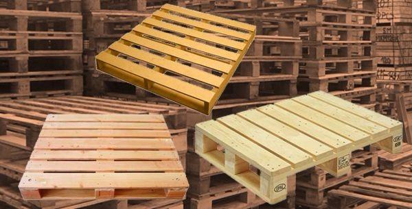 tarimas de madera recicladas para almacenamiento o cedis