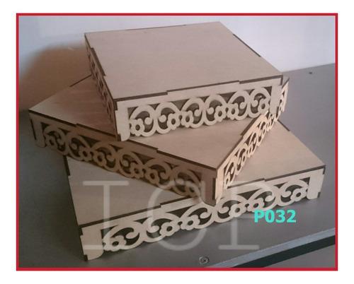 tarimas decoradas en fibrofacil 3mm 30 x 30 cm en laser
