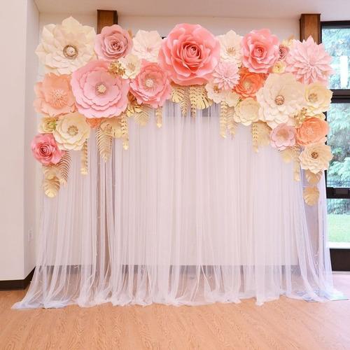 tarimas decorativas de flores.