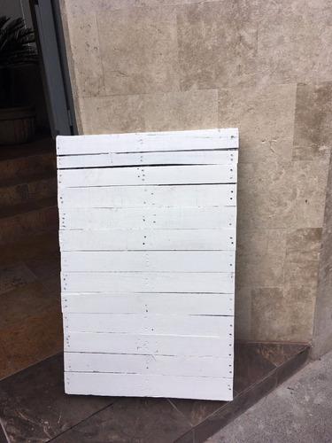 tarimas madera  72x110 o 72x74 pallets pintadas de blanco