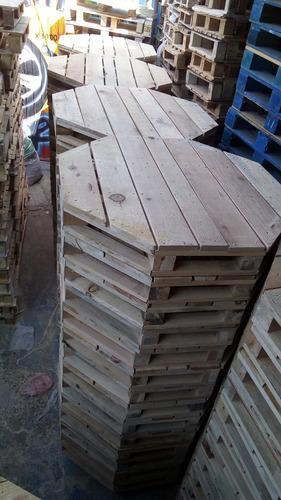 tarimas madera octagonal para comedor o bobinas
