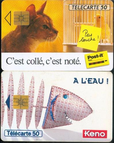 tarj francia gato y esqueleto de pescado