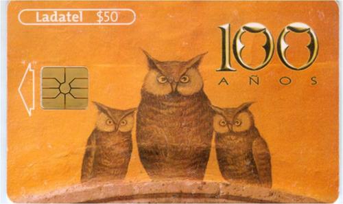 tarj los tres buhos sanborns (mural representando a frank, f