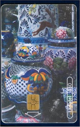tarj viva mexico artesanias talavera de puebla