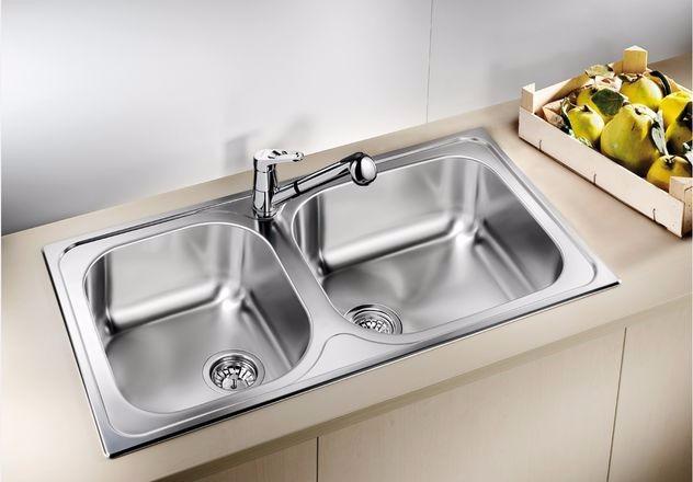 Tarja cocina 2 tinas acero inox blancotipo xl9 marca - Fregaderos de cocina blanco ...