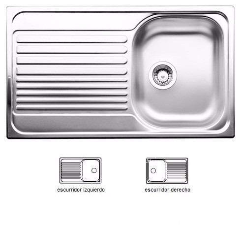 Tarja de cocina acero inoxidable blancotipo 45s marca for Marcas de accesorios de cocina