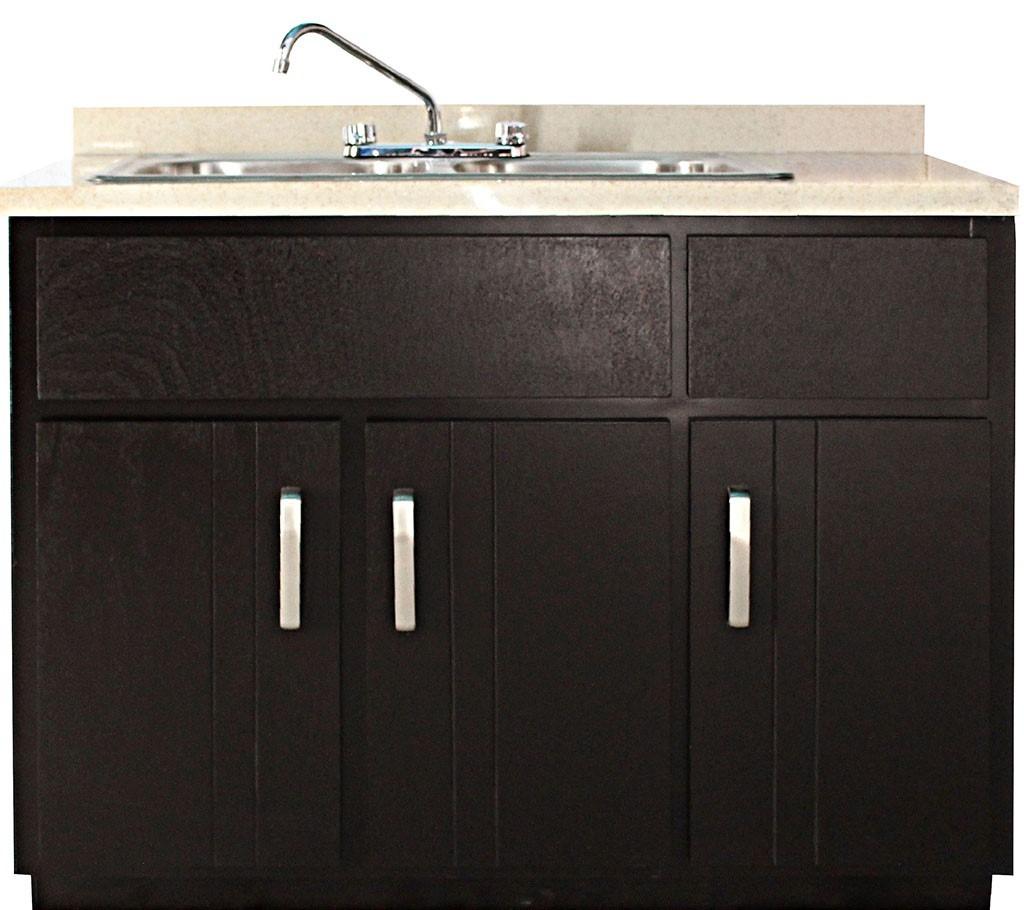 Tarja doble fregadero para cocina integral madera granito for Mueble para tarja